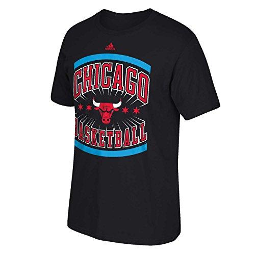 Chicago Bulls negro adidas Chitown bandera camiseta, Chicago Bulls, XXL, Negro