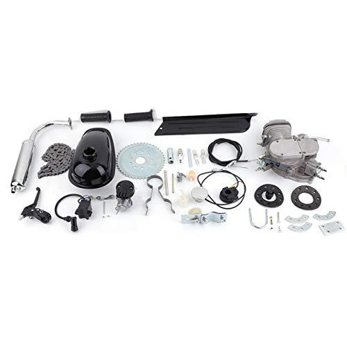 MXECO Professional 2 tiempos 80cc Ciclo Motor Motor Kit Gas Ideal para bicicletas motorizadas Bicicletas de ciclo Plata (plata)
