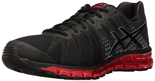 ASICS Men's Gel-Quantum 180 TR Running Shoe, Black/Onyx/Vermilion, 7.5 M US