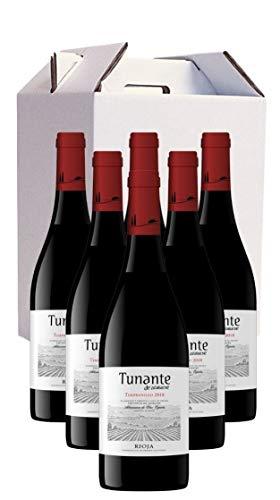 Vino Tinto D.O.Ca Rioja Tunante de Azabache Tempranillo Cosecha 2019 Pack 6 botellas x 750ml