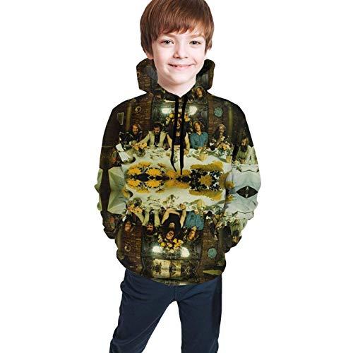Sudaderas con Capucha de Manga Larga/Sudadera con Capucha Juventud Niños Niñas Jethro Tull Sudaderas con Estampado 3D Suéteres