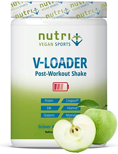 POST-WORKOUT-Shake V-LOADER - spieropbouw en bodybuilding - 750g Groene Appelpoeder - Maltodextrine - Eiwitpoeder - EAA - Creapure - Veganistisch Supplement - Groene Appel