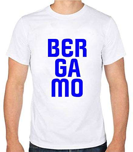 Tipolitografia Ghisleri Maglietta T-Shirt Scritta Bergamo Taglia M (per Taglie dalla S alla XXL Inviare Messaggio con Num. Ordine) Replica Uomo, Donna, Bambino