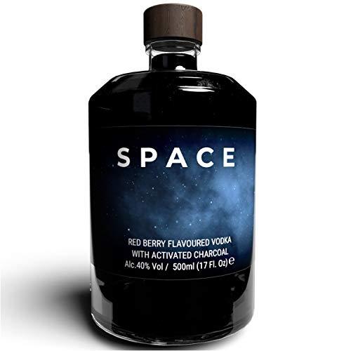 THE VODKA COLLECTIVE - Space Vodka Red Berry - Wodka mit roten Beeren Geschmack I Geschenke für Freunde, Shot Flaschen, Soul Bottle I Korn Schnaps Spirituosen auf pflanzlicher Basis aus Hamburg 0,5l