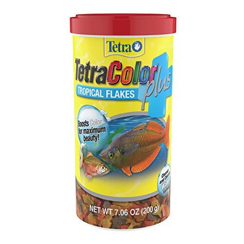 TetraColor Plus Tropical Flakes 7.06 Ounces, With Natural Color Enhancers (77251)