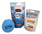 Instant Smile Comfort Fit Flex Teeth - Natural Shade Upper and Lower Kit with Vented Cleaning Case