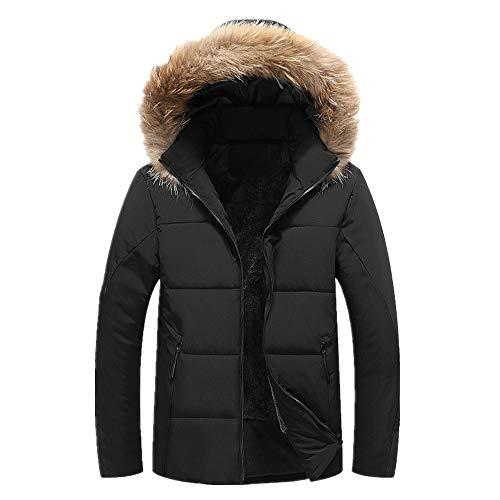 Chaqueta acolchada de algodón para hombre con cuello de lana y cachemira en invierno