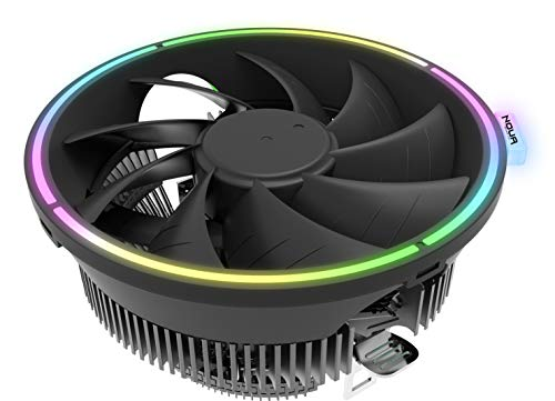 Noua Pulse RGB Rainbow Disipador de Calor para CPU Intel Socket 775 1150 1151 1155 1156 1366 2011 AMD Am3 Am4 Cooler Cooling Fan 1800 RPM de 120 mm Halo Rainbow