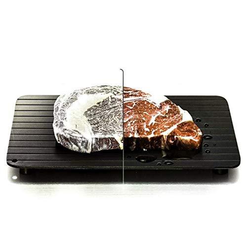 NOBGP Schnell auftauendes Abtautablett, schnelles Auftauen von Aluminiumplatten mit hoher Dichte, Küchengerät mit 4 Ecken, für schnelles, sicheres Auftauen von Fleischfrüchten