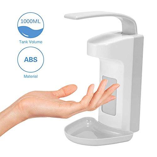 FOXNSK Desinfektionsspender 1000ML Ellenbogen Seifenspender Handseife Seifenspender Wandmontur Medizinischer Desinfektionsmittelspende für Krankenhaus Hotel Zuhause