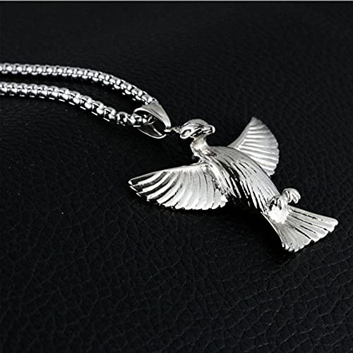 Necklace Pendant Chain Jewelry New Pendant Necklace Pigeon Peace Necklace Wing Chains Party Bib Jewelry For Best Friends-Silver_With_55Cm_Chain