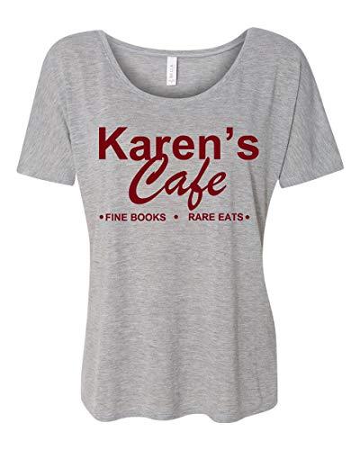 Karens Cafe One Tree Hill Camiseta feminina descontraída, Cinza, S