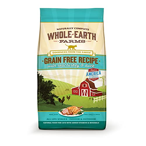 Whole Earth Farms Grain Free Recipe with Real Turkey and Duck Dry Cat Food - 10 lb. Bag