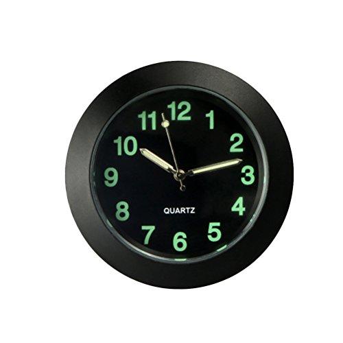 Orologio universale per auto, orologio al quarzo con lancette luminose, perfetto per ufficio, workbench Locker Car Decoration (nero)