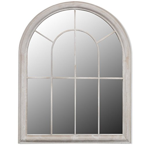 Festnight Espejo Rústico con Arco para Jardín 69 x 3 x 89 cm