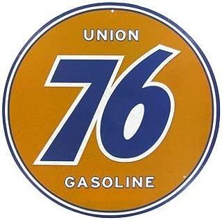 Union 76 Gasoline Embossed Tin Sign