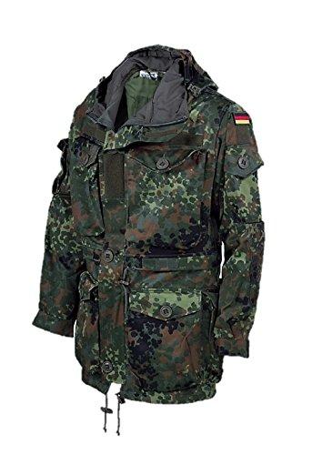 Leo Köhler BW Bundeswehr Parka KSK Einsatz-Jacke 5 Farb-Flecktarn (L)