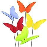 SUNPLAY Sonnenfänger 'Schmetterlinge Maddy' im FARBMIX, 5 Stück zu je 20 cm Durchmesser im Set + 70 cm Schwingstäbe