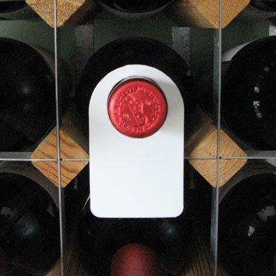 Euposia Etiquetas de Bodega - Collar de plástico para la identificación de Botellas de Vino - Reutilizable - Plastic Wine Tag Color Blanco - Juego de 24 Piezas