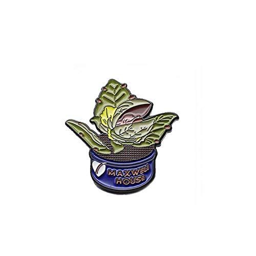 Broche de moda pelo púrpura mujer desnuda amantes frutas fresa arándano Pizza murciélago cámara planta esmalte Pin insignias broches