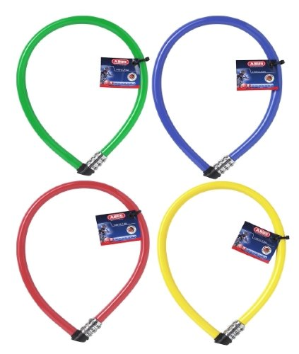 ABUS 61869 Fahrrad Kabelschloss 1100/55s Kid's Kabel-Fahrradschloss, Länge: 550 mm, grün, rosa, hellblau, orange