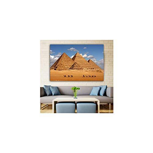 SXXRZA Cuadros de Pared 20x30cm Carteles sin Marco e Impresiones pirámide del Desierto Egipcio Lienzo Pintura Arte de Pared para Sala de Estar Decorativa para el hogar