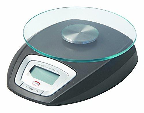 Dr. Oetker Digitale Küchenwage BACK-SPASS, Digitale Backwaage mit Glasteller (Farbe: Grau), Menge: 1 Stück