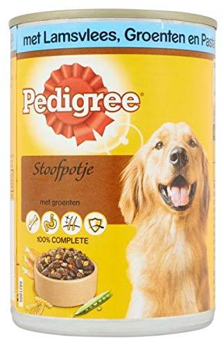 400 GR Pedigree blik adult stoofpotje lam/groenten/pasta hondenvoer