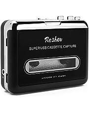 Reshow - Reproductor de casete portátil para capturar música y música MP3 (USB, compatible con ordenadores portátiles y ordenadores de sobremesa)Convertir Walkman Cinta Cassettes