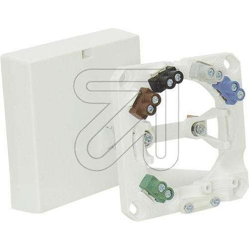 Geräteanschlussdose, AP/UP, 5-polig, reinweiß