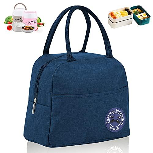 Kühltasche Faltbar,6L Picknicktasche Kühltasche,Kühltasche Mini Faltbar,Lunch Tasche,Kühltasche Eistasche,Minikühltaschen,Thermotasche Faltbar Klein,Isoliertasche Lunch,Kühlbox für Picknick (Marine)