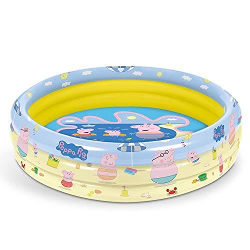 Mondo Toys – Peppa Pig | 3 Rings Pool – Piscina Hinchable para niños 3 Anillos – Diámetro 100 cm – Capacidad 84 l – 16642