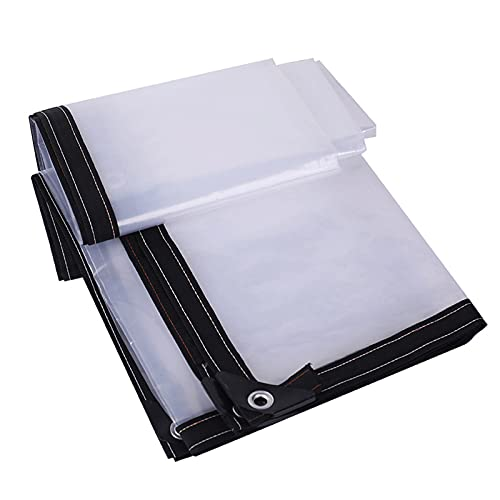 QWV Cubierta Lona Transparente, Material Grueso Alta Resistencia, Lonas Impermeables con Ojales, para Techo/Camping/Exterior/Patio: Disponible en Todas Las Estaciones