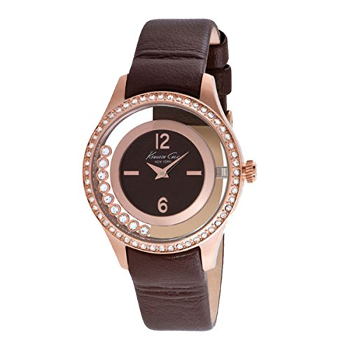 Kenneth Cole Reloj Cronógrafo para Mujer de Cuarzo con Correa en Cuero IKC2882