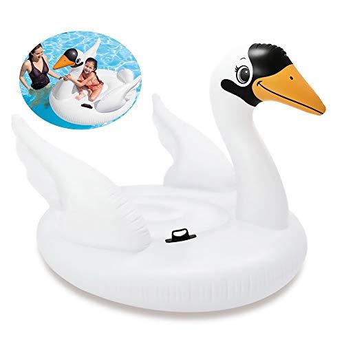 DODOBD Flotador de Piscina Cisne, Colchoneta Hinchable Cisne en Piscina Playa Juguetes para Piscina Playa Agua - 130 * 102 * 99CM