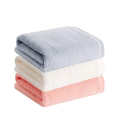 Toalla de baño Juego de Toallas de Ducha Toallas de baño Toallas de Playa Toallas de algodón Suave Altamente absorbentes No se decoloran Toallas de Manos de Hotel de SPA en el hogar (Color: Blanco)
