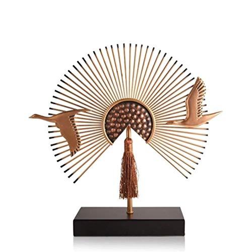 LBWT Moderne Einfache Dekoration, Chinesische Art Ornament Kreative Heimat Innen Statuen Wohnzimmer/TV-Schrank/Weinklimaschrank Geschenk (Size : 55 * 56cm)
