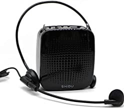 Voice Amplifier Microphone Headset, 15W Low Feedback Portable Mini PA Speaker and Mic System, Support USB/TF Card/Aux/MP3, Clear Sound Personal Small Pocket Amp for Teacher, Elderly ect
