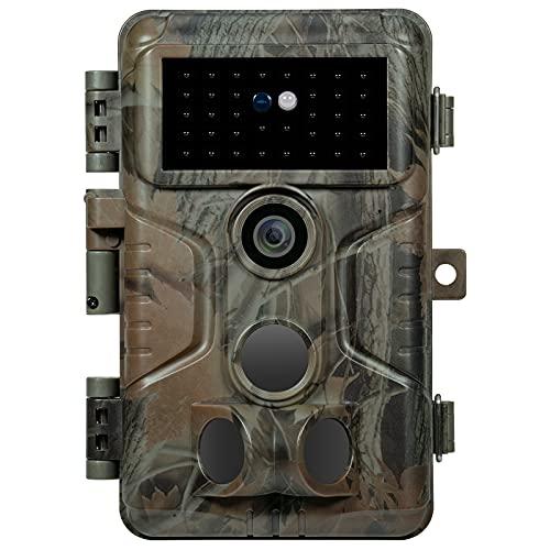 Meidase S3 Pro Wildkamera 32MP1080P mit 0,1S Schnelle Trigger Bewegungsmelder Nachtsicht No Glow Infrarot 940nm LEDs, IP66 Wasserdicht, 3 PIRs 120° Weitwinkel, H.264 Video, 2,4\'\' LCD Display