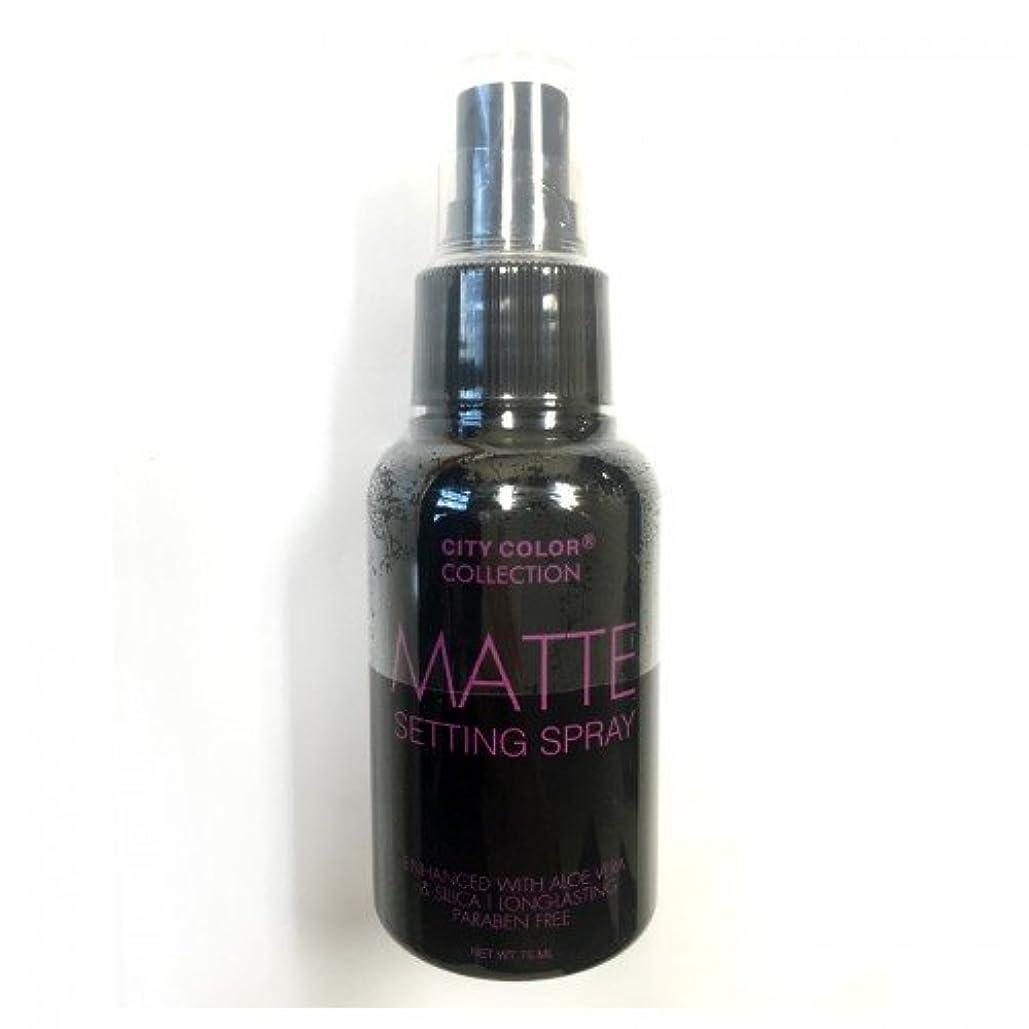 究極のマンハッタン気づく(3 Pack) CITY COLOR Matte Setting Spray (並行輸入品)