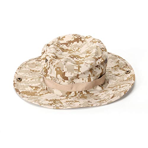 Military Ba Wide Brim Sun Boonie Hat Summer Bucket Caps Perfect for Camping Fishing Safari Hiking Outdoor Activity UV Protection-Desert Digital L