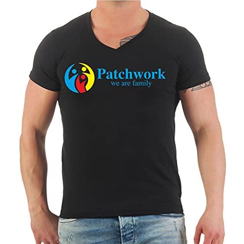 Männer und Herren T-Shirt Patchwork we Are Family Größe S - 5XL