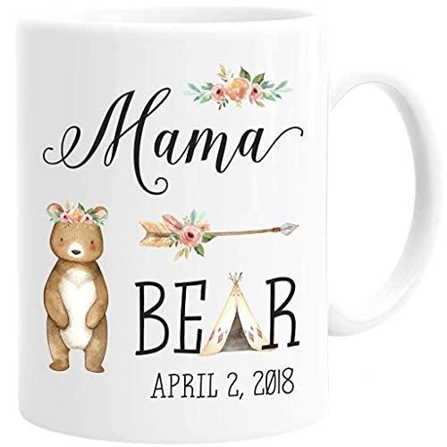 N\A Regalo Personalizado de Baby Shower de mamá Oso Nueva Taza de café y mamá