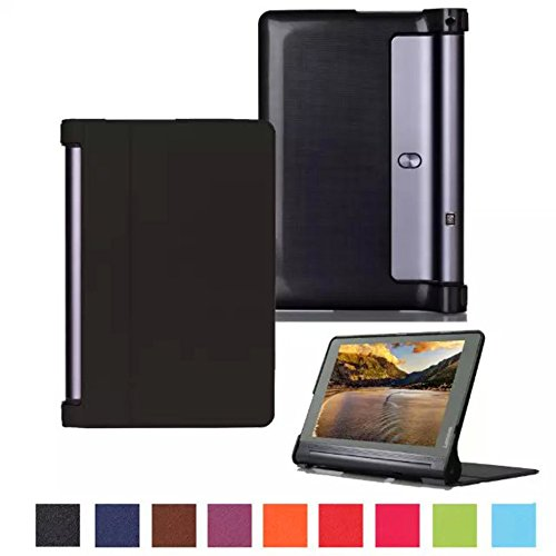 Cover for Lenovo Yoga Tab 3 Plus YT-X703 Inch Smart Slim Case Book Cover Stand Flip YT3-X90 (Black) New