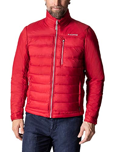 Klepper Herren Leichtstepp Jacke einfarbig Rot 56