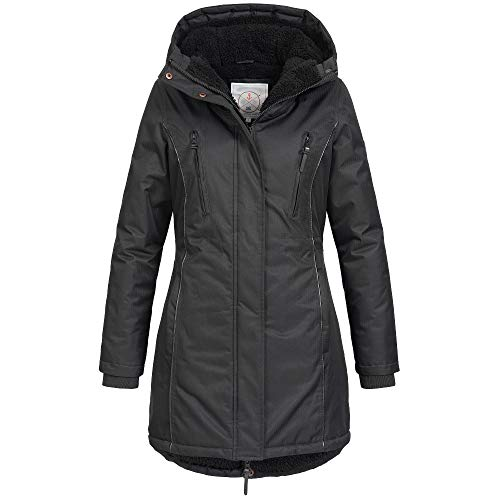 Azuonda dames winter jas jas winterjas parka warm gevoerde capuchon Az101 XS-XXL 2 kleuren