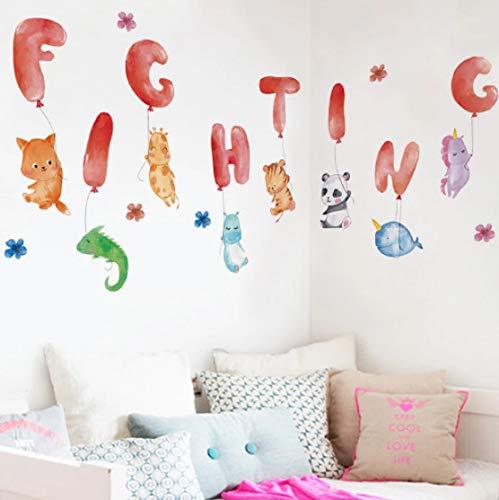 Pegatinas de pared de animales lindos pegatinas inglesas decoración de habitaciones