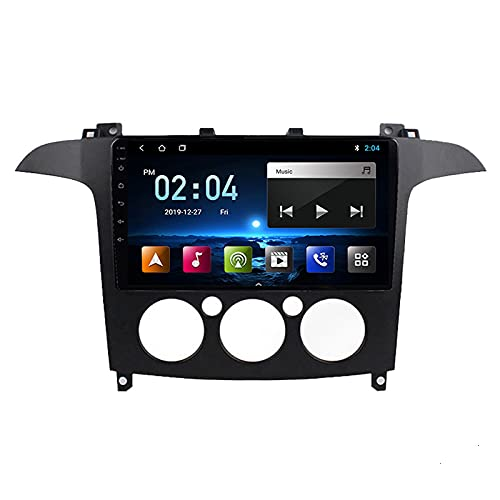 WXFN Radio De Coche Bluetooth con Pantalla Táctil 1080P De 9 Pulgadas, para Ford S-MAX 2007-2008 Car Radio Soporte Sistema Android/Control del Volante/FM/USB/AUX Reproducción,B Quad Core,WiFi 1+16