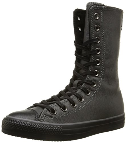 Converse, All Star X-Hi Zip Leather Sneaker,Donna, Marrone (Beluga/Black), 38