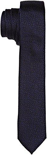 Calvin Klein Herren Naples Krawatte, Blau (True Navy), Eins (Hersteller Größen:Eins Größe)